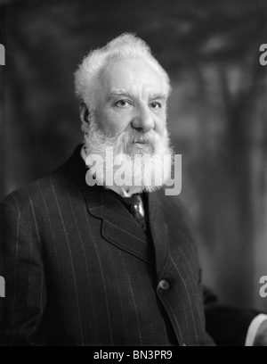 Undated photo of Scottish-born inventor Alexander Graham Bell (1847 – 1922) - creator of the world's first practical - Stock Photo