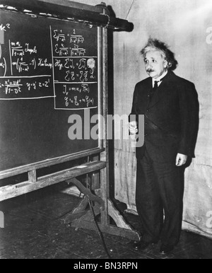 ALBERT EINSTEIN (1879-1955) German-Swiss mathematical physicist - Stock Photo