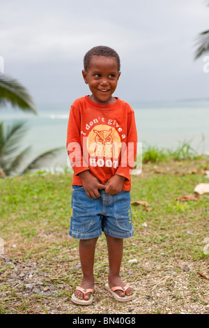 Portrait of young Jamaican boy - Stock Photo