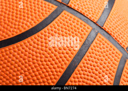 Orange Basketball close up shot - Stock Photo