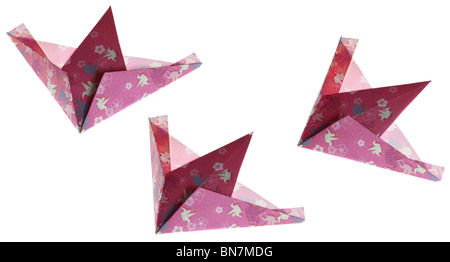 Colorful origami birds or airplanes. - Stock Photo