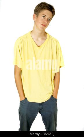 Thin teenage boy - Stock Photo