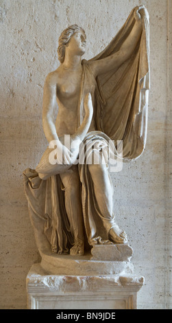 Statue of Leda and the Swan in the Capitoline Museums. Roman copy of a Greek original after the one by Timotheos, - Stockfoto