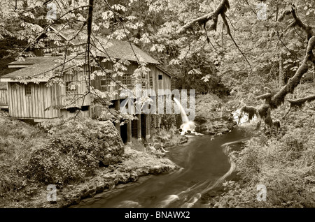 The Cedar Creek Grist Mill In Washington State Stock Photo