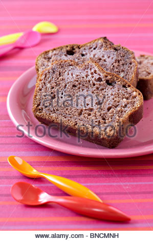 Raspberry chocolate cake - Stock Photo