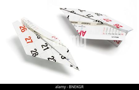 Calendar Paper Planes - Stock Photo