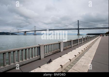 Oakland Bay Bridge San Francisco California USA - Stock Photo