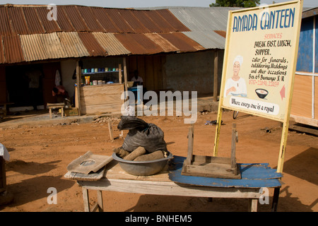 The only restaurant in Damango, northwest Ghana. - Stock Photo
