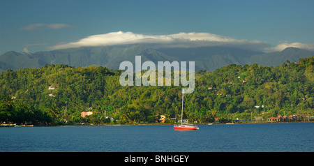 Caribbean Port Antonio Jamaica East Harbour Blue Mountains North Coast Coast Sea Ocean Landscape Scenery Nature - Stock Photo