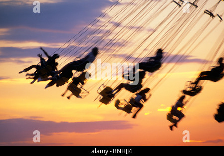 Sweden Stockholm Merry go round Action Activity Amusement Amusement park Amusement parks Carousel Chair Emotion - Stock Photo