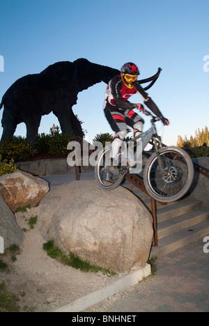 Mountain biker Brian Emerson. - Stock Photo