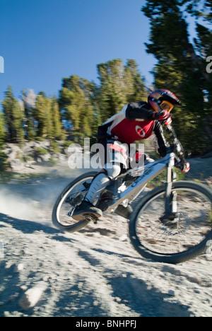 Mountain bike racer Brian Emerson. - Stock Photo