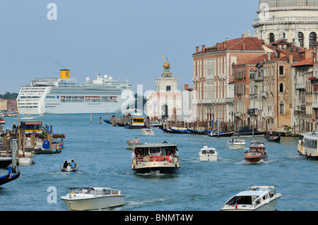 Venice. Italy. Traffic on the Grand Canal. Canal Grande. - Stock Photo