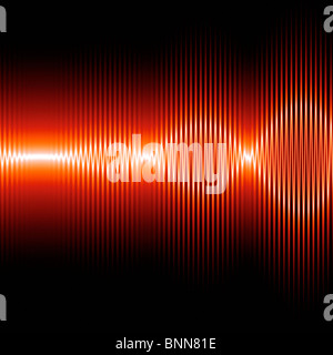 Sound waves, artwork - Stock Photo