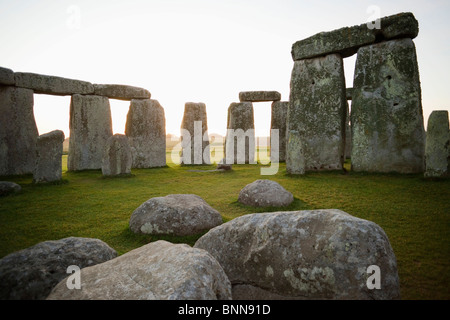 UK United Kingdom Great Britain Britain England Wiltshire Stonehenge Salisbury Plain Stone Circle Tourism Travel - Stock Photo