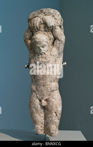 Statue of the Hanging Marsyas from Thasos, 2nd c. AD. Archaeological Museum of Thasos. - Stockfoto