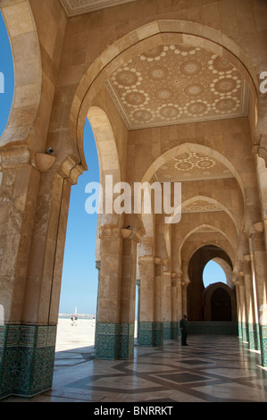Africa, Morocco, Casablanca. Hassan II Mosque (aka King Hassan Mosque), third largest mosque in the world. - Stock Photo