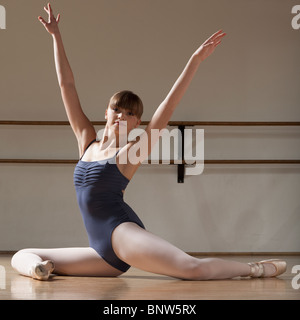 Ballet dancer stretching - Stock Photo