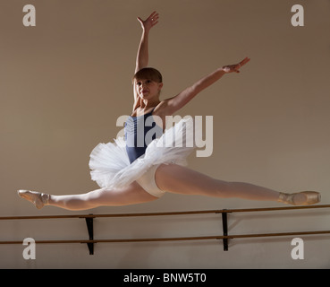 Ballet dancer jumping - Stock Photo