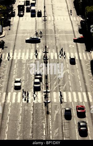 France, Paris, Champs-Elysées - Stock Photo