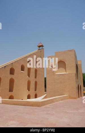 Astronomical instrument at Jantar Mantar observatory - Jaipur, Rajasthan, India. - Stock Photo
