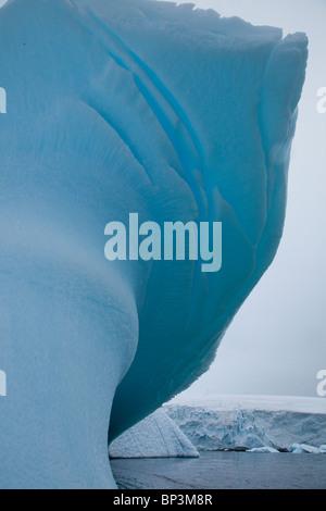 Icebergs in Antarctica in the summer - Stock Photo