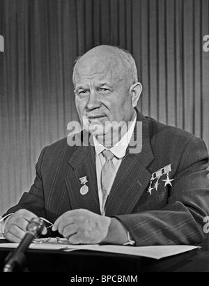 First Secretary of Central Committee of CPSU Nikita Khrushchev, 1962 - Stock Photo