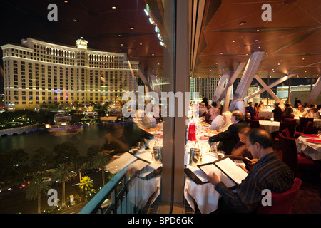 Diners In The The Eiffel Tower Restaurant The Paris Hotel Looking Stock Pho