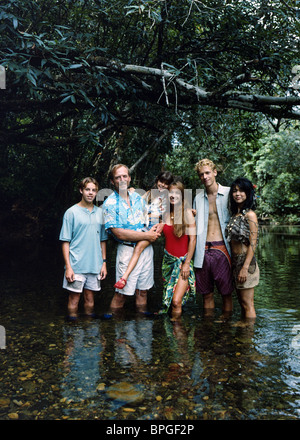 BLAKE BASHOFF JAMES KEACH JAMIE RENEE SMITH JANE SEYMOUR JOHN ASHER & YUMI IWAMA THE NEW SWISS FAMILY ROBINSON (1998) - Stock Photo