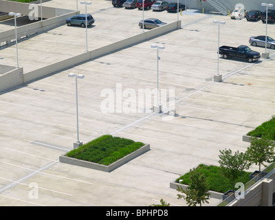Aerial View of Parking Lot, Philadelphia, USA - Stock Photo