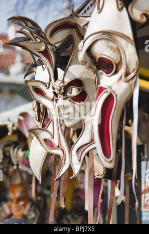 Carnival venetian masks on sale in Venice, Italy. - Stock Photo