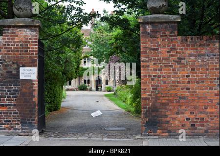 Master's lodge, Jesus college, Cambridge university. - Stock Photo