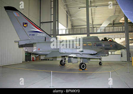 The Prototype Eurofighter aircraft later to be called the Typhoon on display at the Imperial War Museum Duxford - Stock Photo