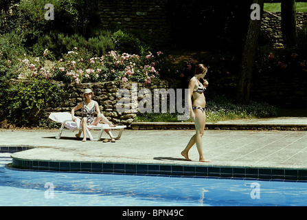 Ludivine Sagnier Swimming Pool 2003 Stock Photo Royalty