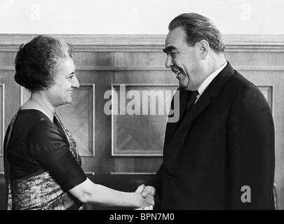 Indira Gandhi visit to Soviet Union, 1971 - Stock Photo
