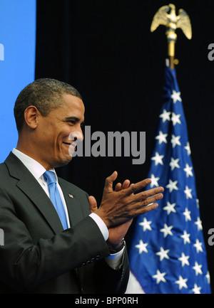 Barack Obama visits New Economic School - Stock Photo