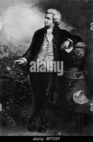 WOLFGANG AMADEUS MOZART MUSIC COMPOSER (1785) - Stock Photo