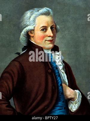 WOLFGANG AMADEUS MOZART MUSIC COMPOSER (1770) - Stock Photo