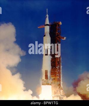 SATURN ROCKET LAUNCH APOLLO 11 (1969) - Stock Photo