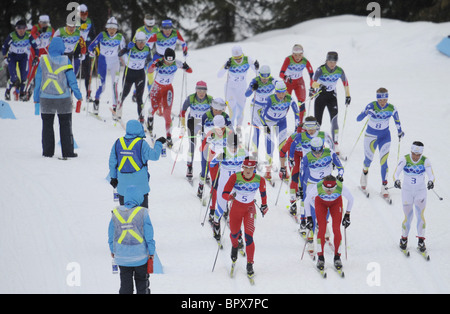 Vancouver 2010: Women's 30km Cross Country Skiing - Stock Photo