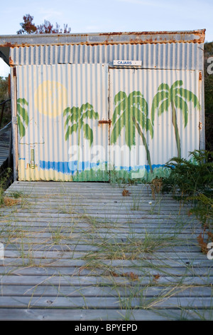 Boat shed on Nebraska Beach - Stockfoto