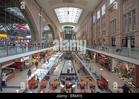 Leipzig central railway station, Germany - Stock Photo