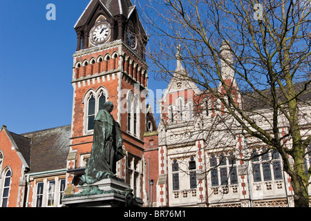 Statue of Michael Arthur (the first Baron Burton) outside the town hall, Burton upon Trent, Staffordshire, England - Stock Photo