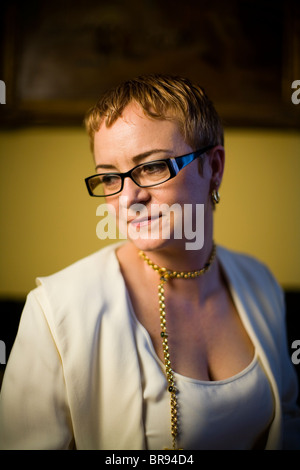 Montgomery McFate a cultural anthropologist applies her knowledge to issues of national security through work with - Stock Photo