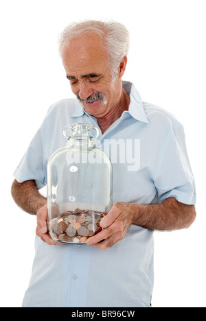 Happy Saver Senior Years - Stock Photo