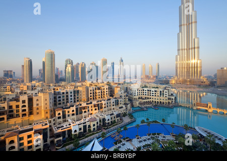 The Burj Khalifa, completed in 2010, tallest man made structure in the world, Dubai, UAE - Stock Photo
