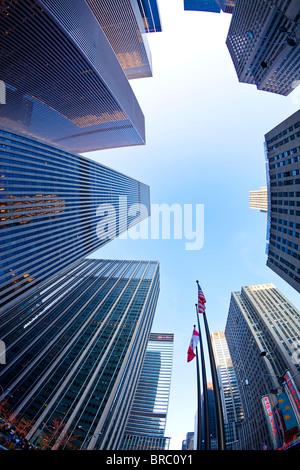Financial district of Sixth Avenue, Manhattan, New York City, New York, USA - Stock Photo