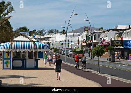 Dh puerto del carmen lanzarote tourist cyclists on pushbikes cycle stock photo royalty free - Lanzarote walks from puerto del carmen ...