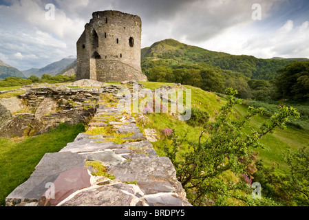 Dolbadarn Castle, Llanberis Pass, Gwynedd, Snowdonia National Park, North Wales, UK - Stock Photo