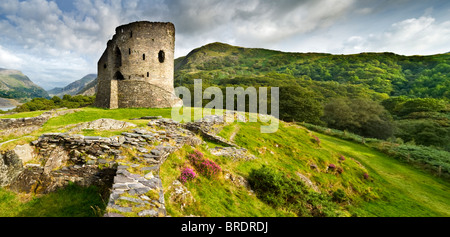 Dolbadarn Castle, Llanberis Pass, Snowdonia National Park, North Wales, UK - Stock Photo